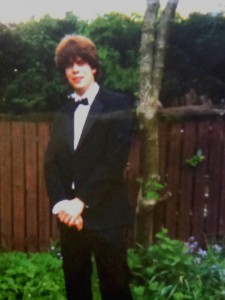 This teenager has grown up to regret some of the decisions he made. Not least the awful hair.