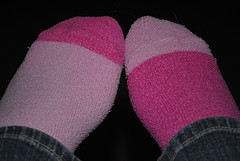 To you, this is a picture of a pair of socks. In reality they are my nemesis. Photo by http://www.flickr.com/photos/missie-graham/