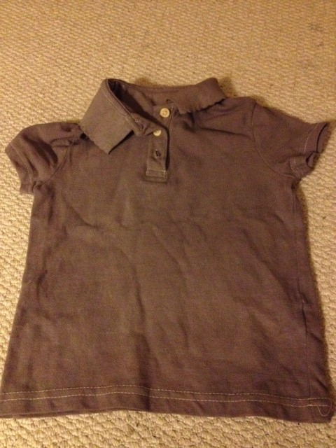 Dyed with liquid shoe polish, coffee and finally Dylon, the shirt my daughter never got to wear.
