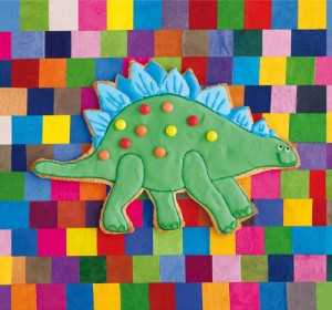 Stiggle stegosaurus by Howard Shooter and Lauren Floodgate. The print now adorning my oldest daughter's bedroom wall.