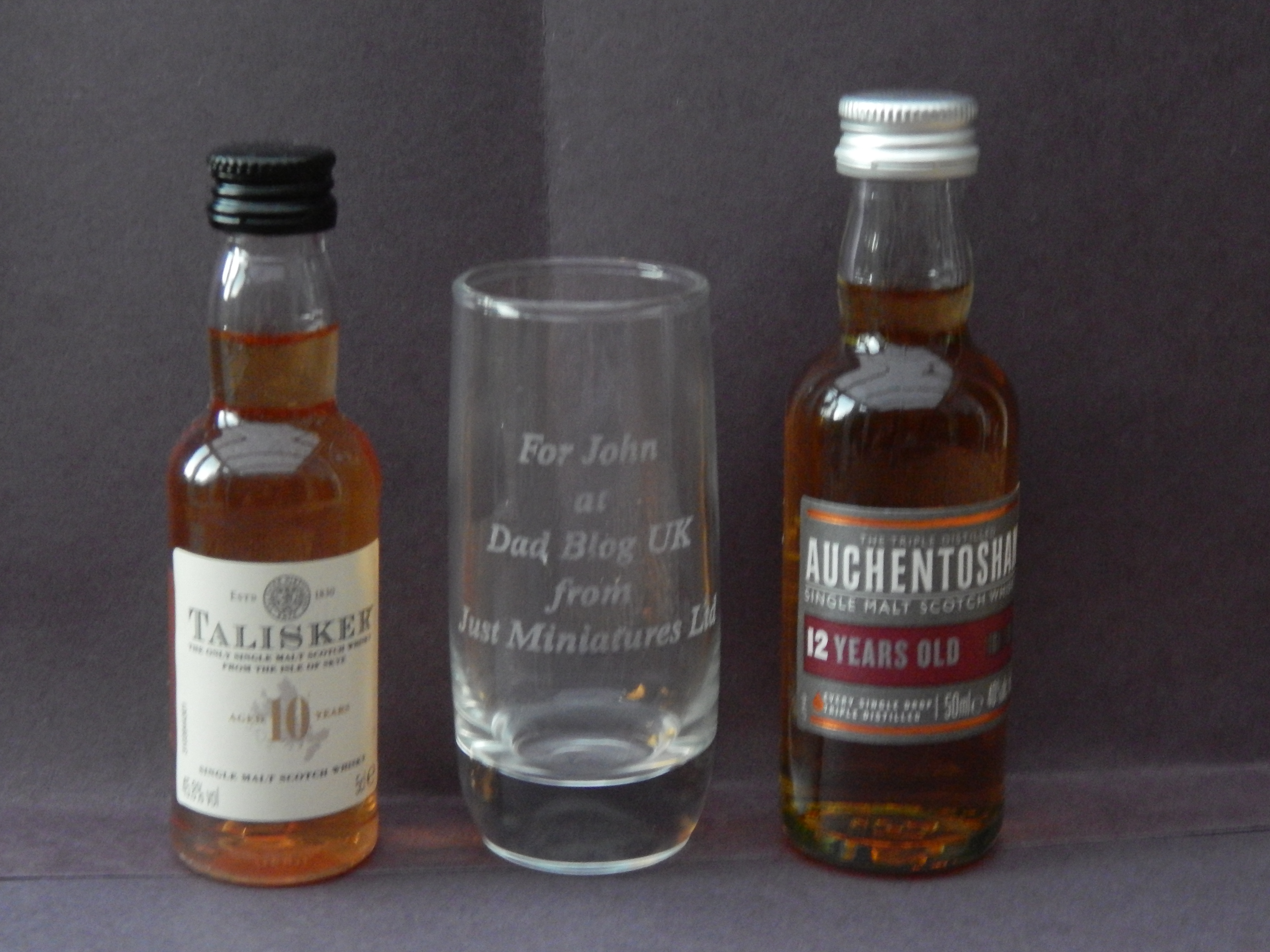 Giveaway; shot glass and miniatures