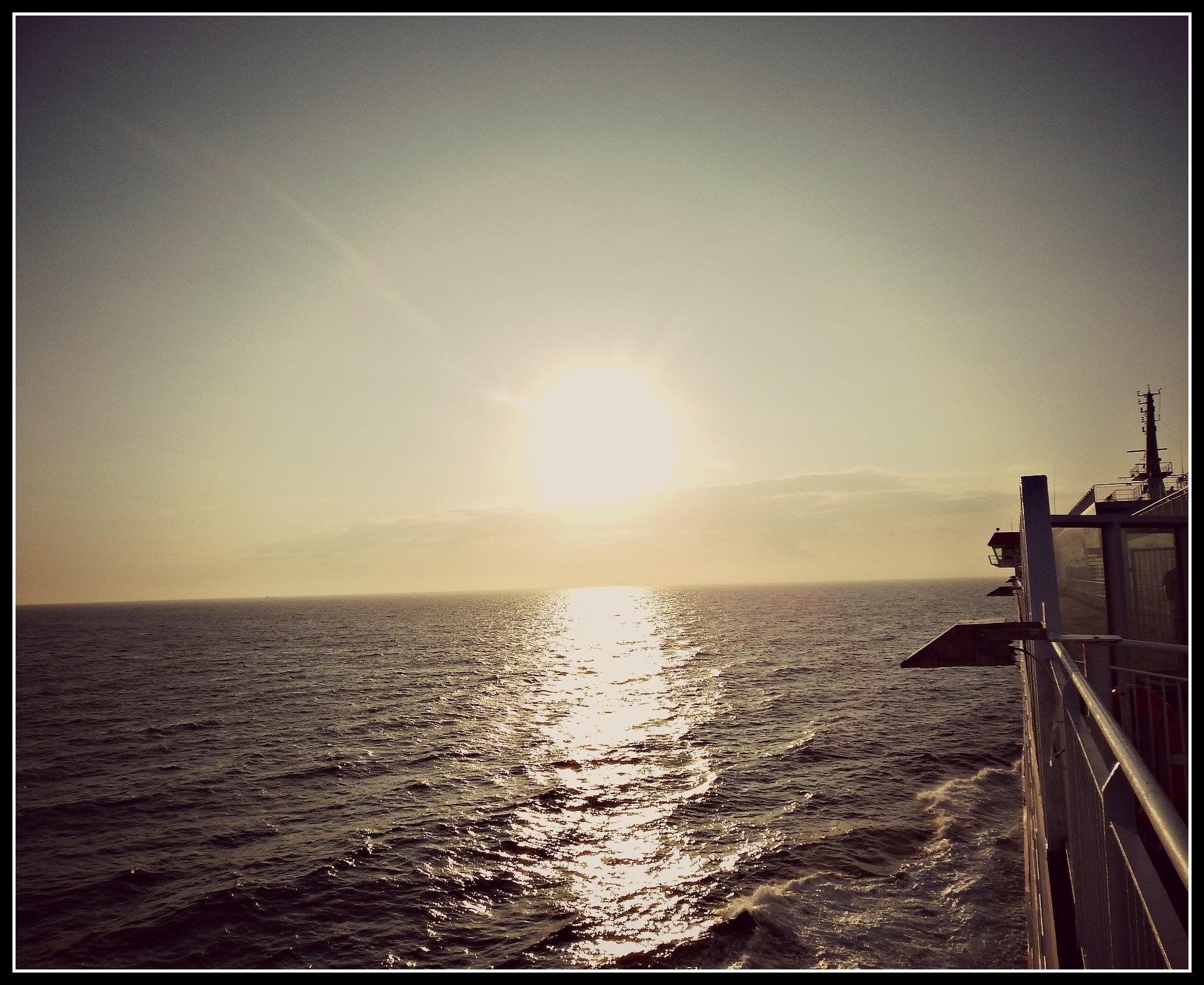 Sunset over the English Channel #MySundayPhoto
