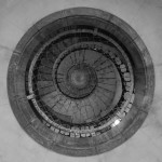 Spiral staircase B&W photography project