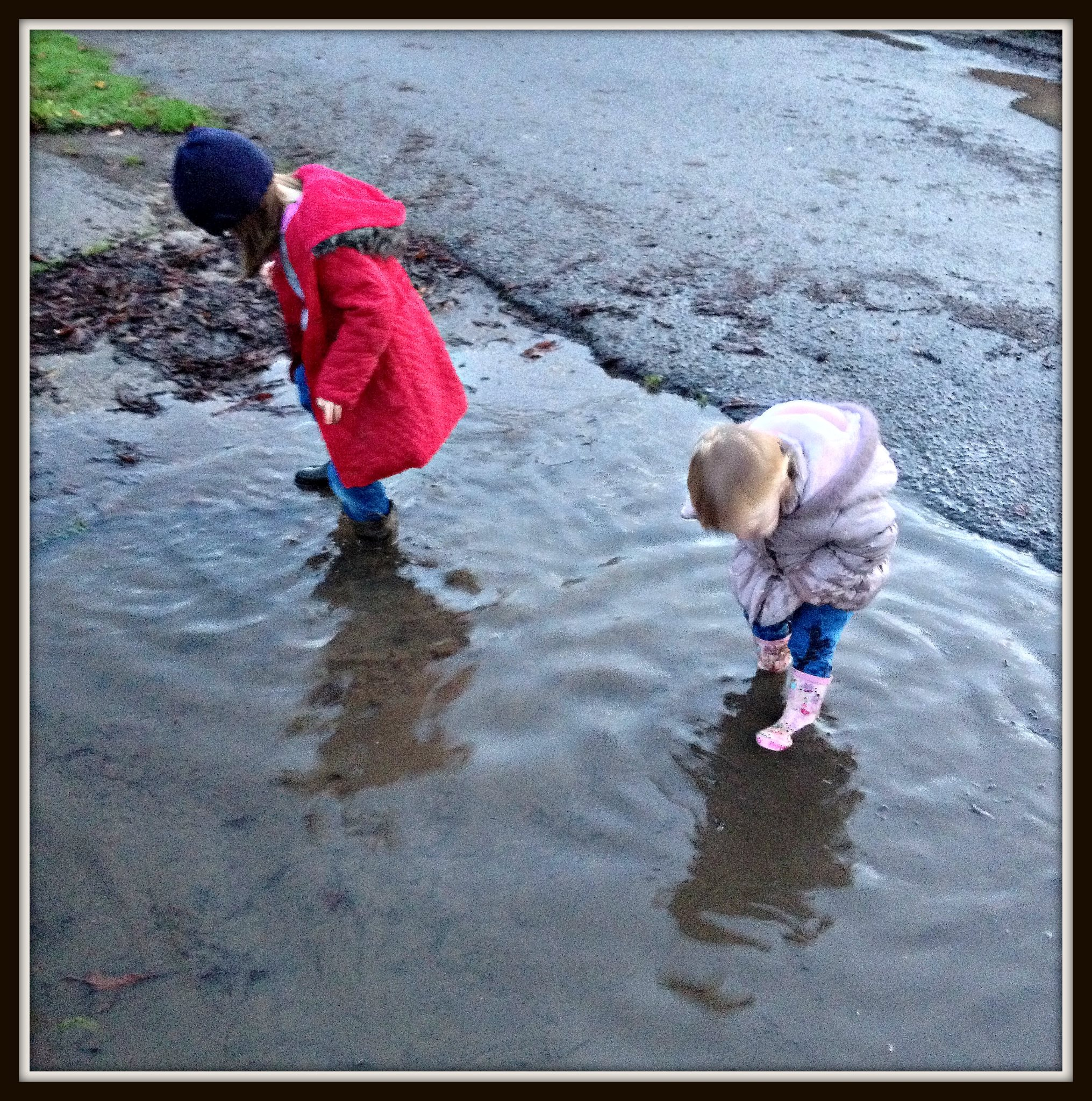 Muddy Puddles, My Sunday Photo, 16/11/2014