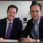 Discussing family friendly, flexible working with Nick Clegg