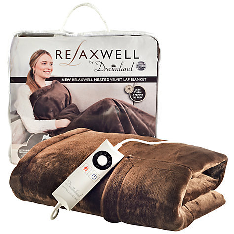 Review; Relaxwell heated lap blanket by Dreamland