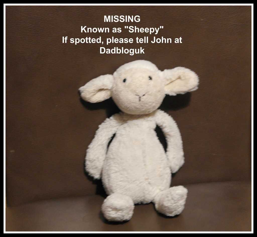 cuddly toy, child, children, favourite toy, missing toy, dad blogger, daddy blogger father blogger, sheepy