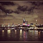London skyline, by night