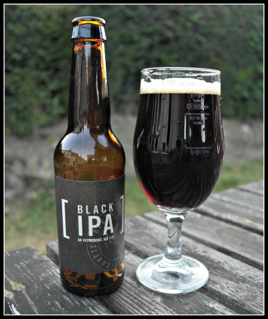 Black IPA from Stewart Brewing. A vrey distinctive beer.