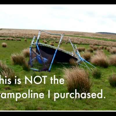 How NOT to buy your children a trampoline