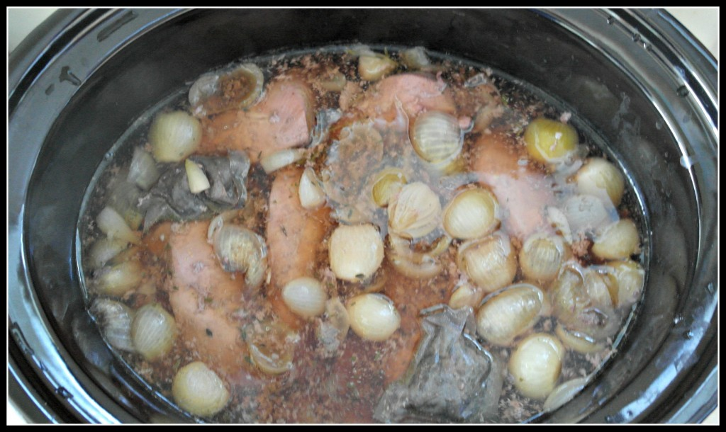 family food, clow cooker, coq au vin