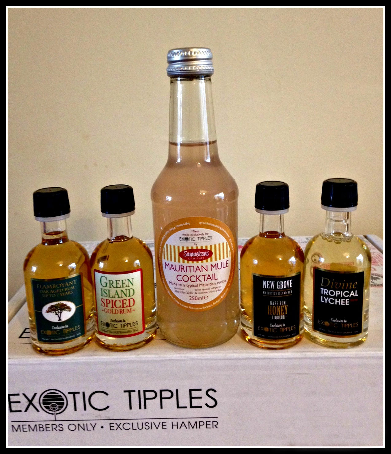 Exotic Tipples? Don't mind if I do.