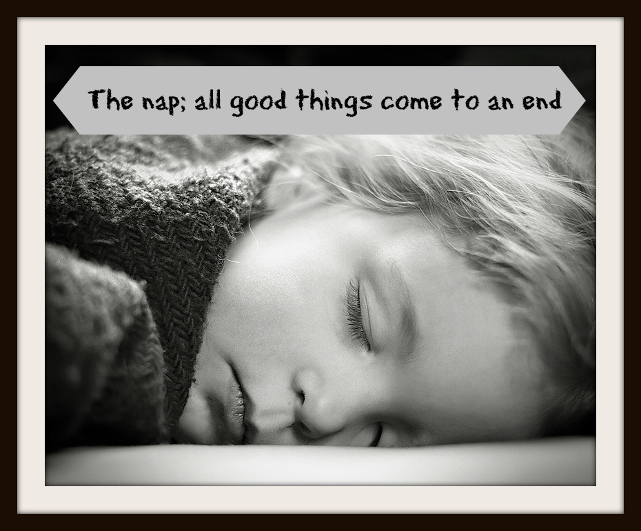 Nap time; all good things come to an end
