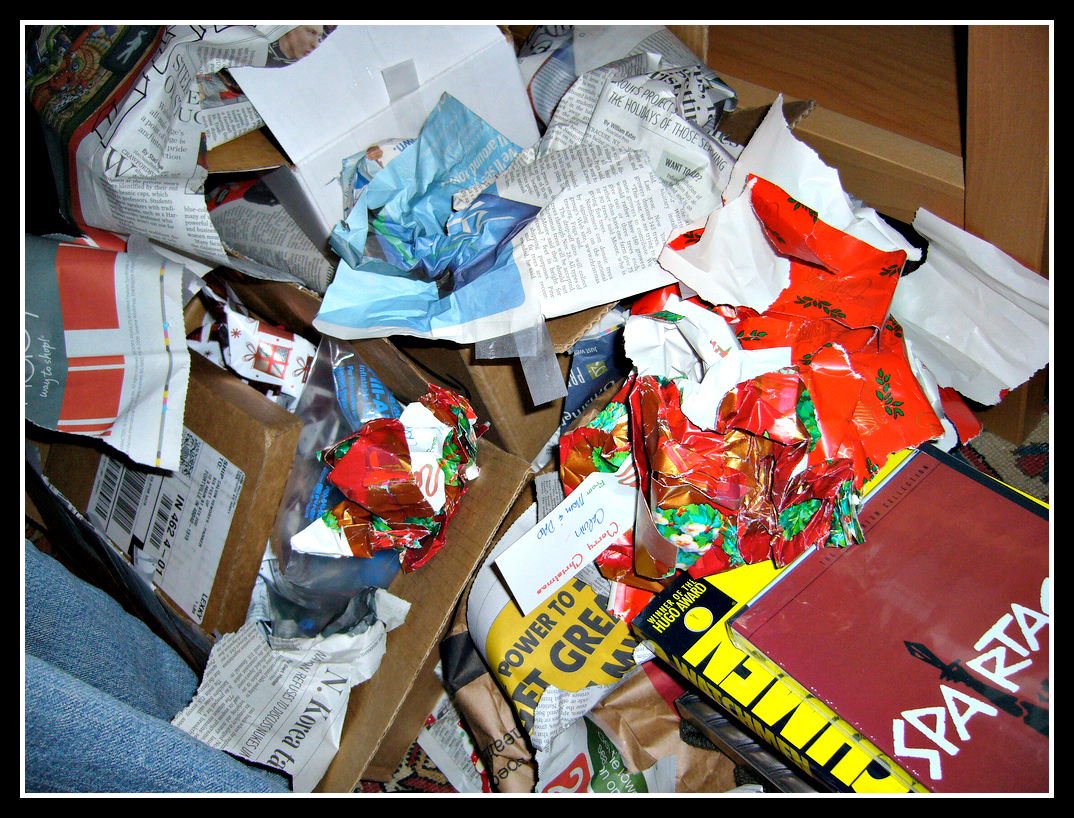 Waste packaging at Christmas; what do you do with it?
