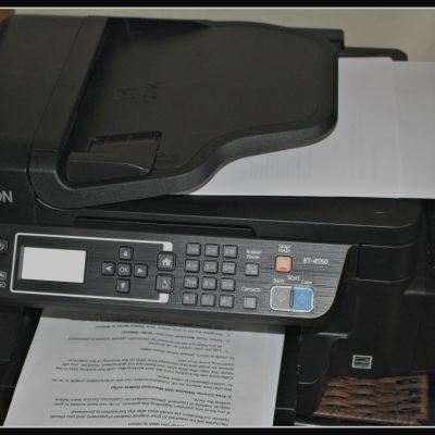 Review; Epson EcoTank ET-4550 computer printer