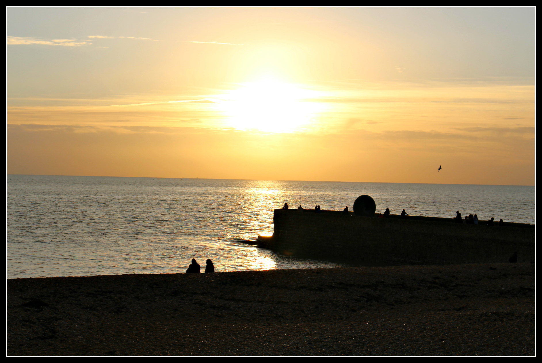 Sunset on Brighton Beach