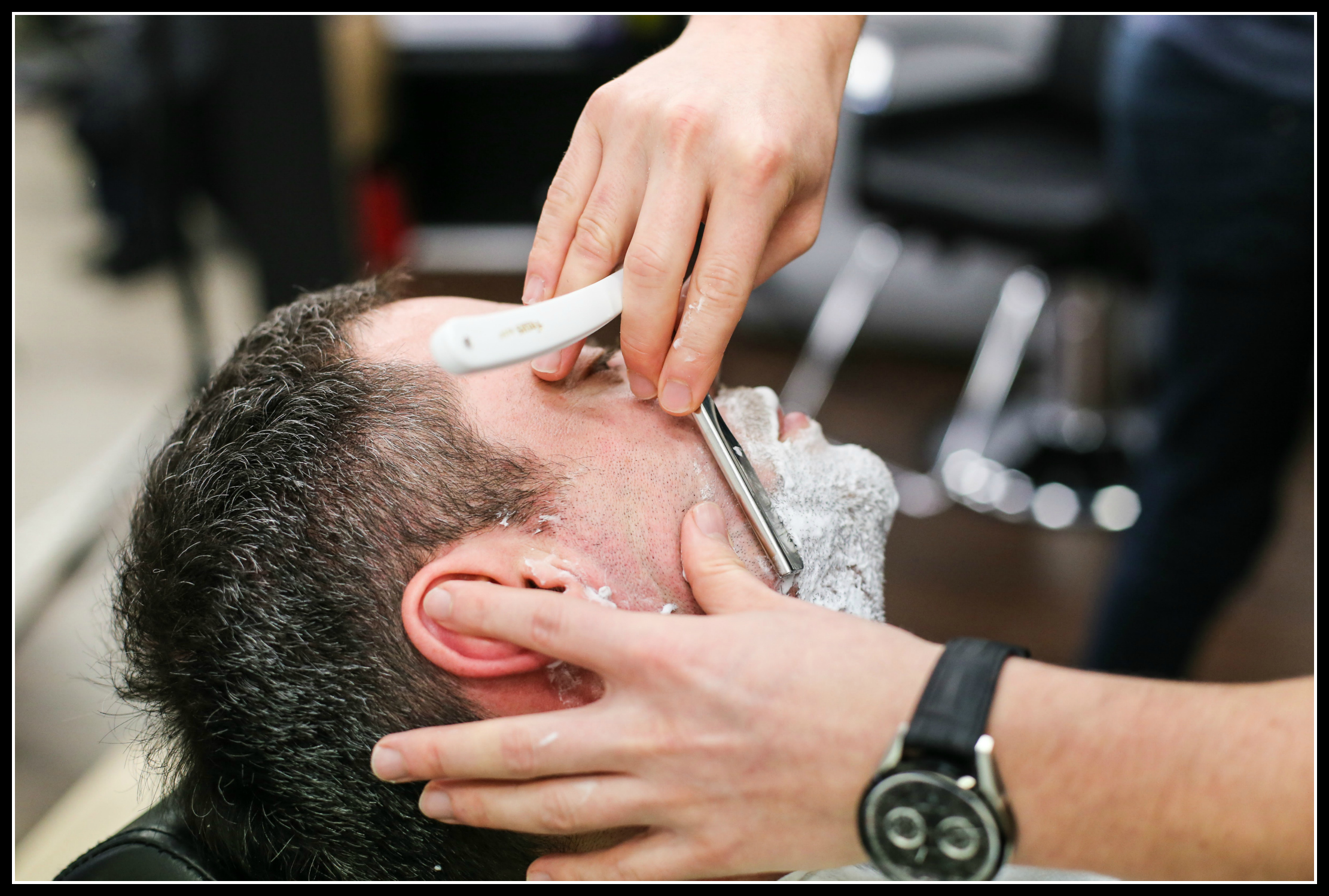 shave, shaving, grooming, London School of Barbering, haircut, hair style, men's style