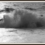 Breaking wave on Brighton beach