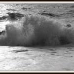 Breaking wave on Brighton beach