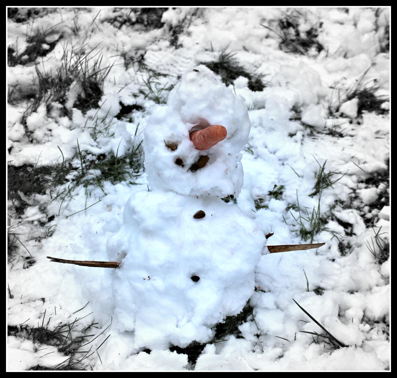 snow, snowman, weather, child, children