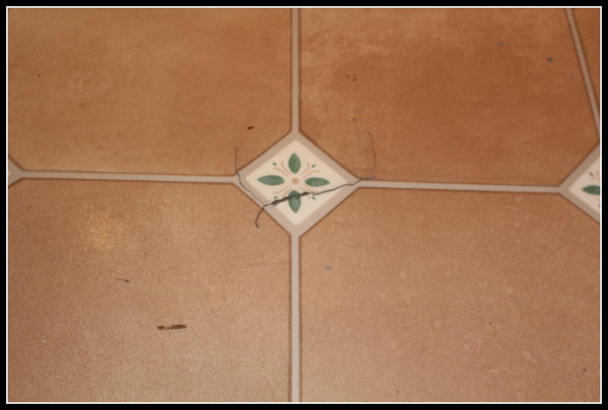 kitchen floor, damaged kitchen floor, lino, damaged lino, home improvement,