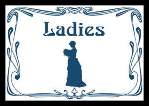 ladies, lavatories, ladies' conveniences, cloakroom