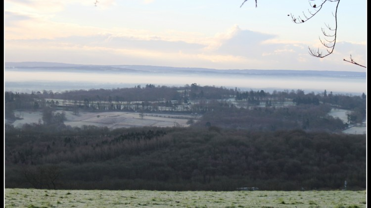 A photo of the North Downs, caught on the school run