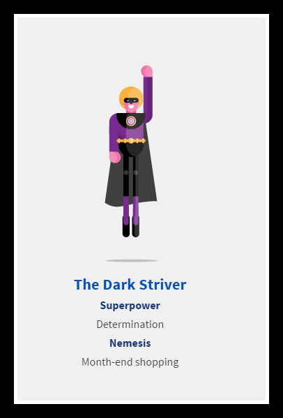 Aviva, Dark Striver, financial personality test