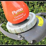 Flymo Contour Cordless XT garden strimmer; look dad, no cable!