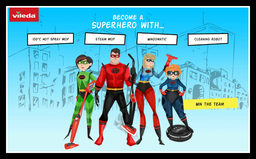 Your chance to become a Vileda grime fighting superhero