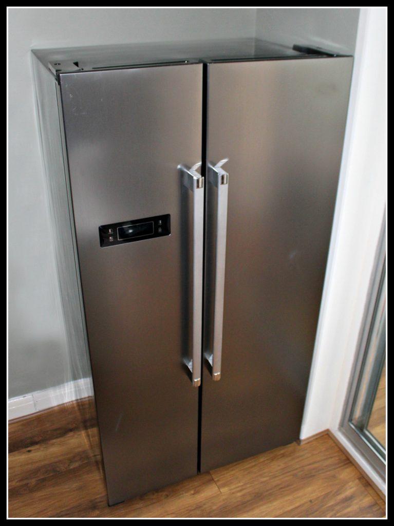 Fridge, freezer, fridge freezer, humour, kitchen, new kitchen, family life