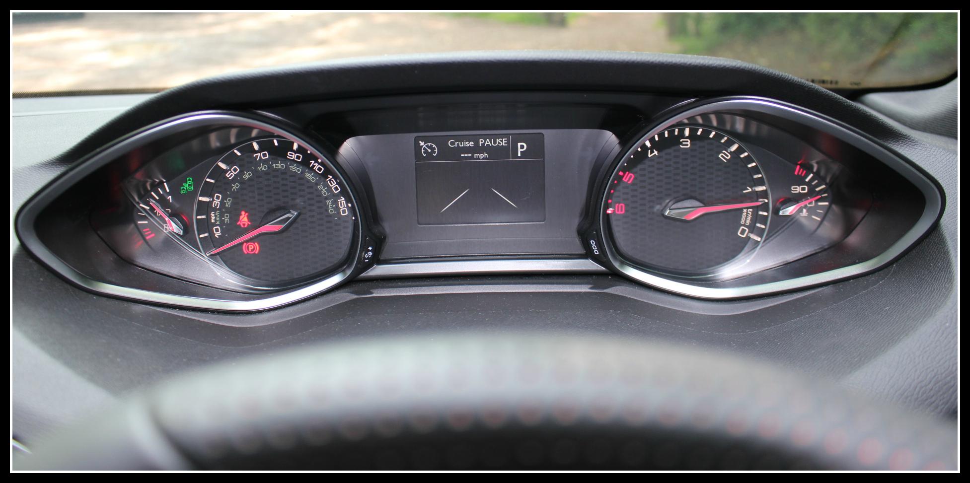 Peugeot 308 GT instrument panel - Dad Blog UK