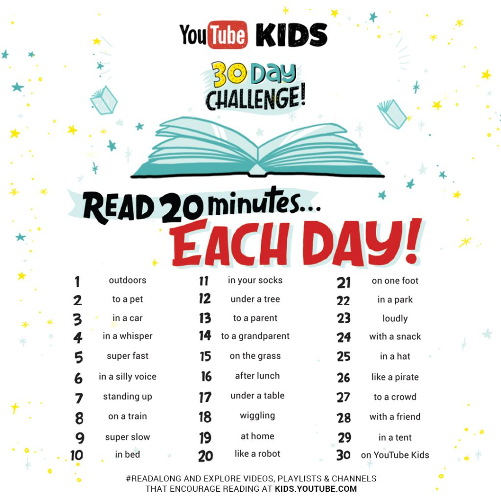 YouTube Kids, YouTube, #ReadAlong, reading, development, education