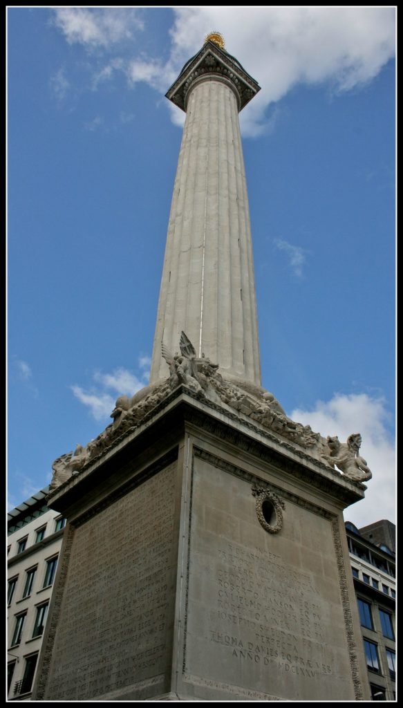 Monument, The Monument, Great Fire of London, Monument to the Great Fire of London, days out in London