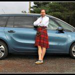 Family road trip to Scotland in a Citroën Grand C4 Picasso