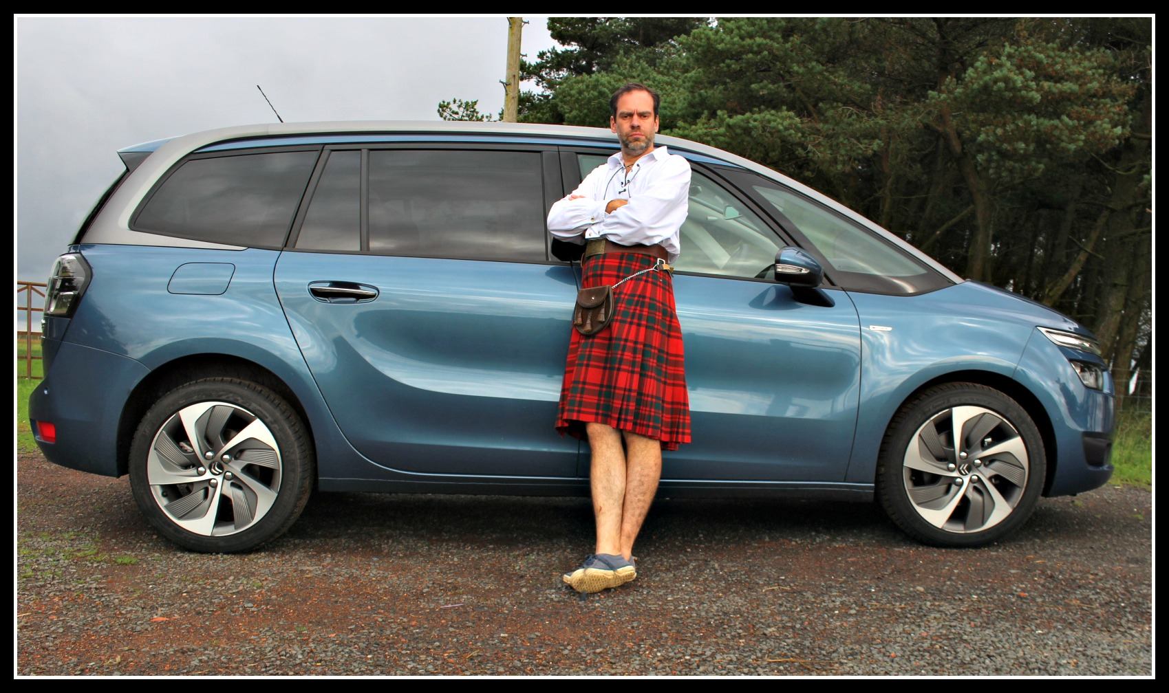 Family road trip to Scotland in a Citroën Grand C4 Picasso