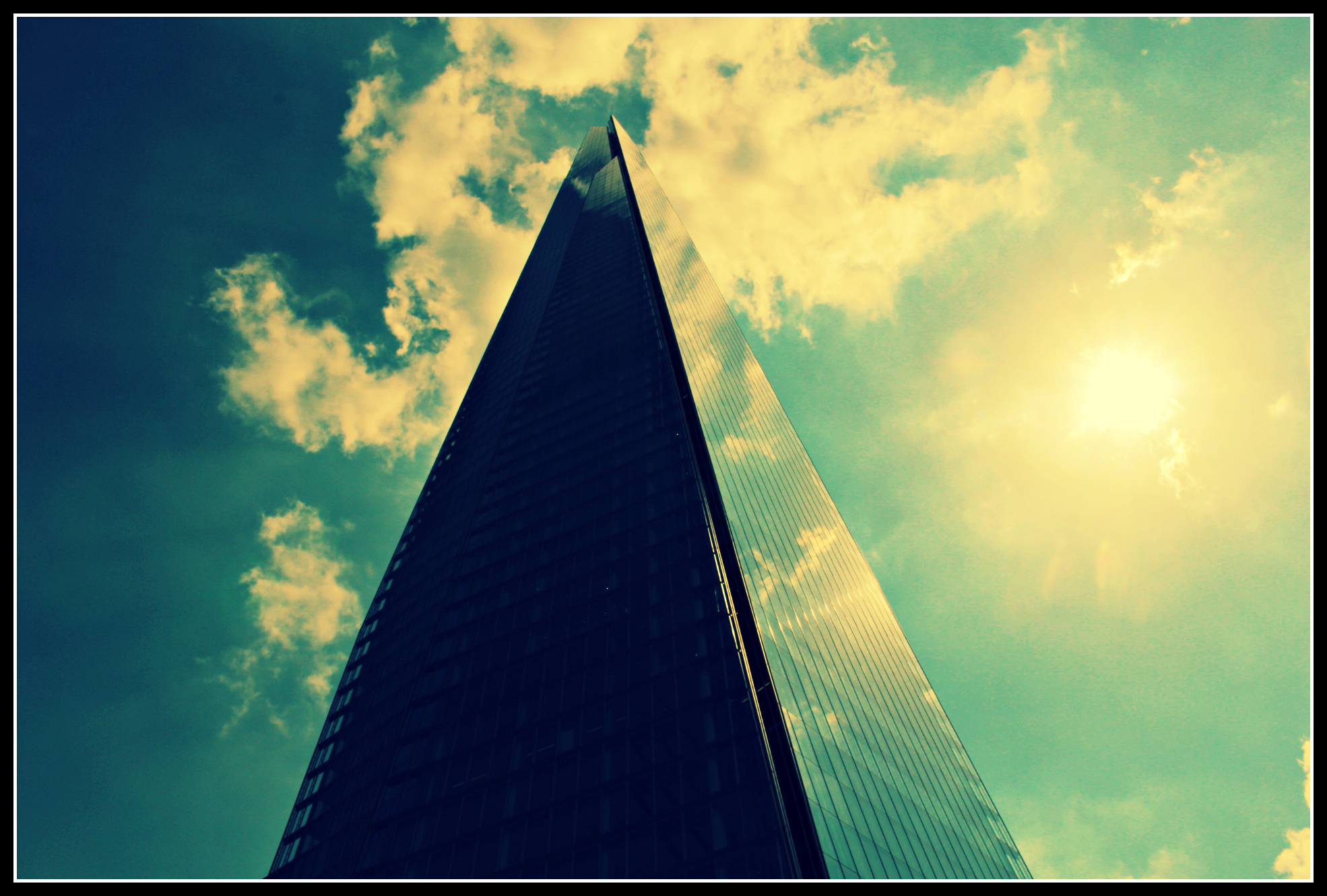 The Shard, on a sunny day.