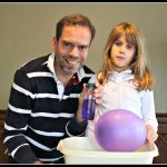 Electromagnetic balloon: science experiments for kids No 4