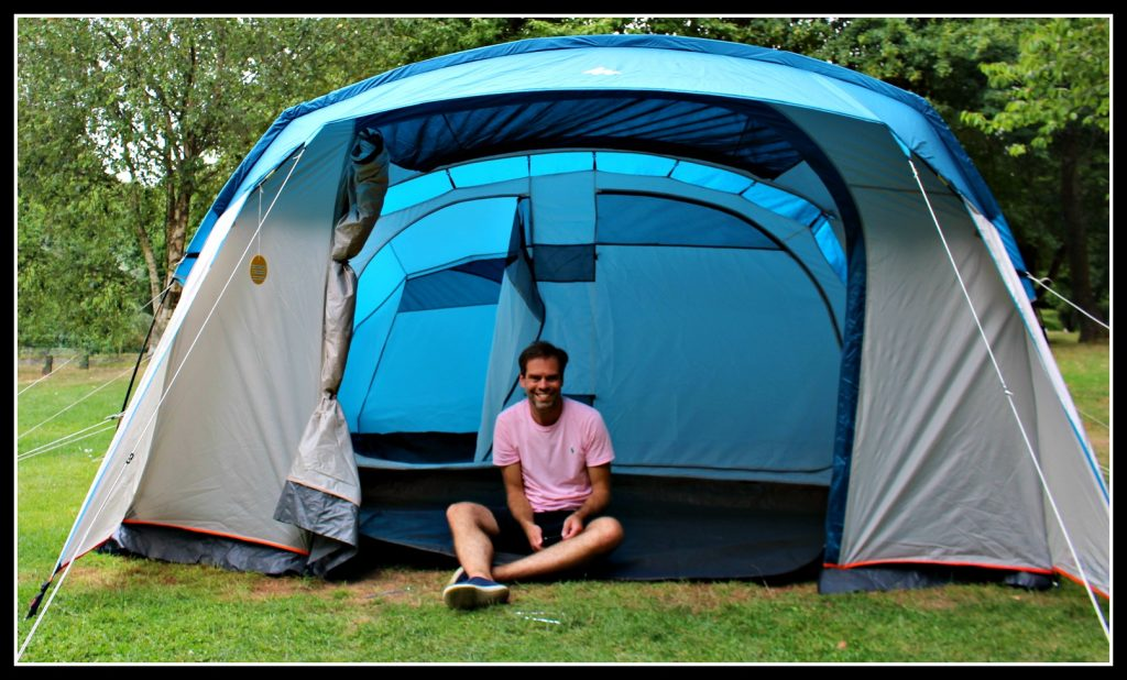 camping, camping with children, Decathlon, five person tent, five man tent, family tent, family camping trip