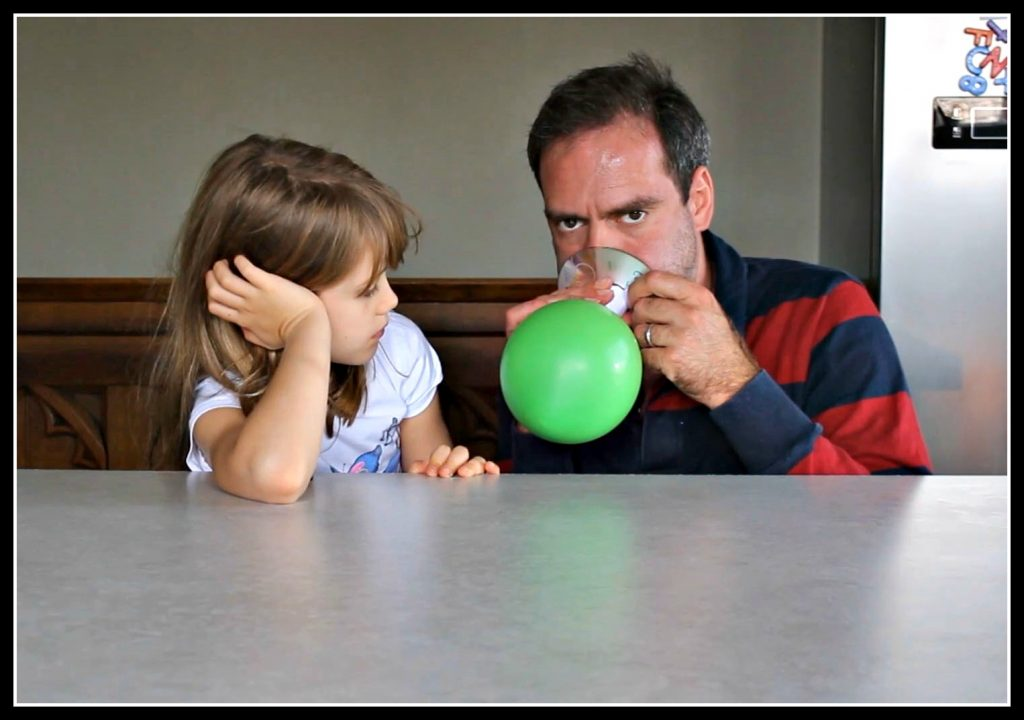 balloon and CD hovercraft, science for kids, science for children, science experiments for children,