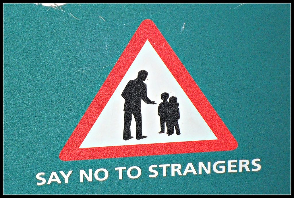 stranger danger, say no to strangers, safety, parenting, child protection