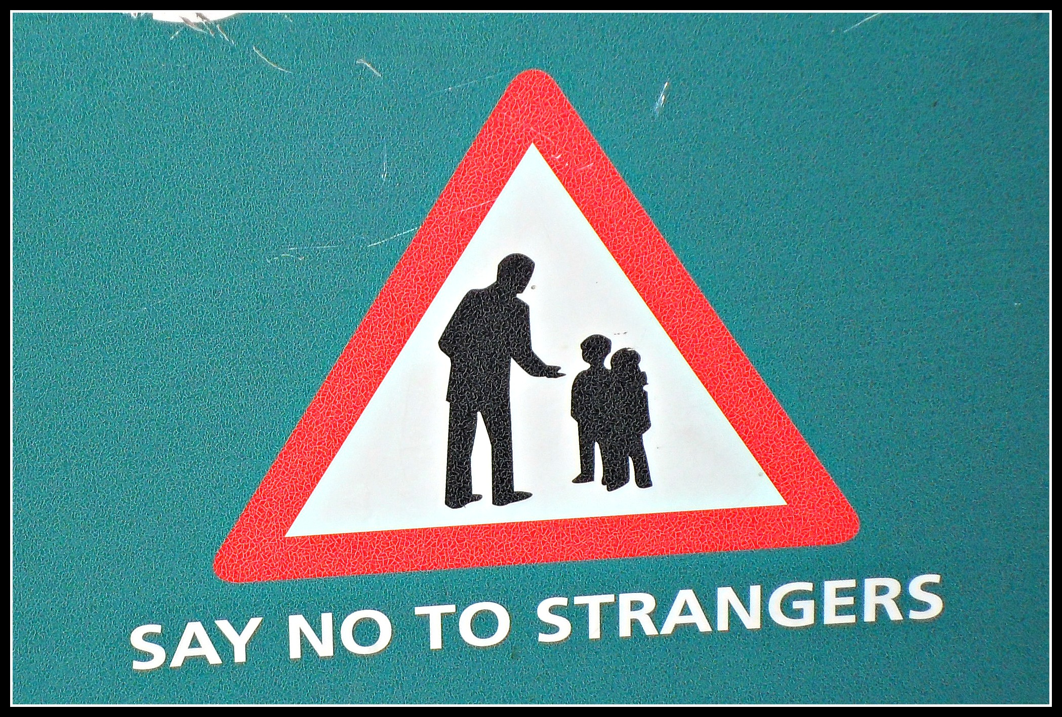 Do you send out conflicting messages about stranger danger?