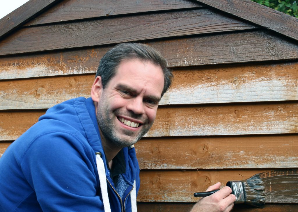 Giving the garden shed some love with sadolin wood stain dad blog uk - Sadolin exterior wood paint image ...