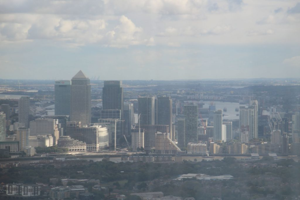 View From The Shard, Canary Wharf, London