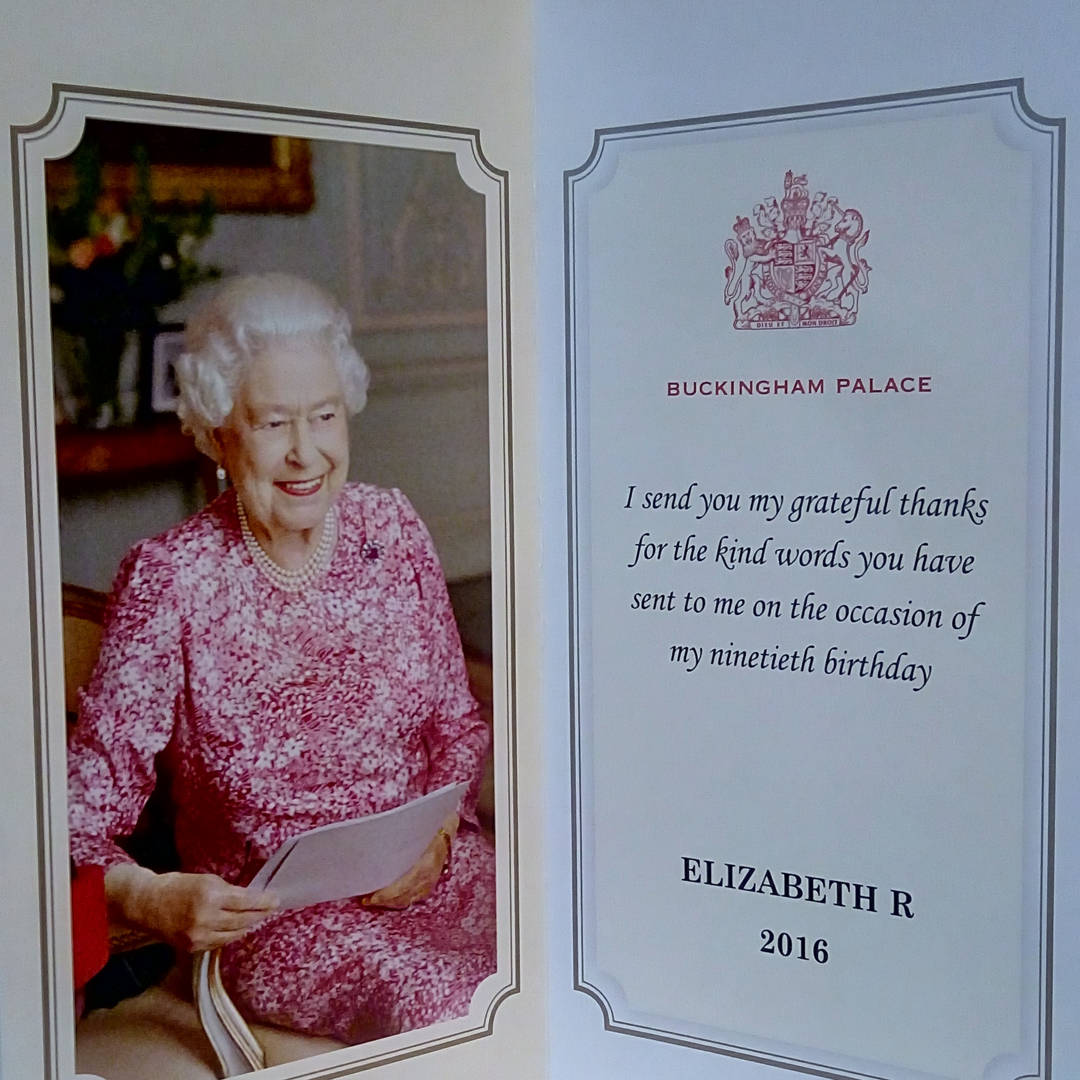 A note from the Queen