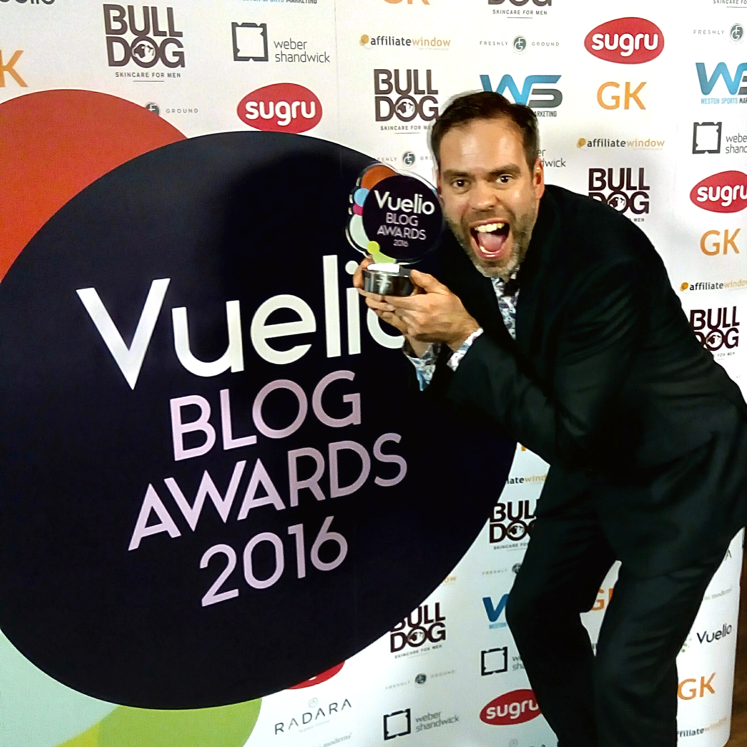 Vuelio, Vuelio blog awards, blogging, best UK dad blog, daddy blogger
