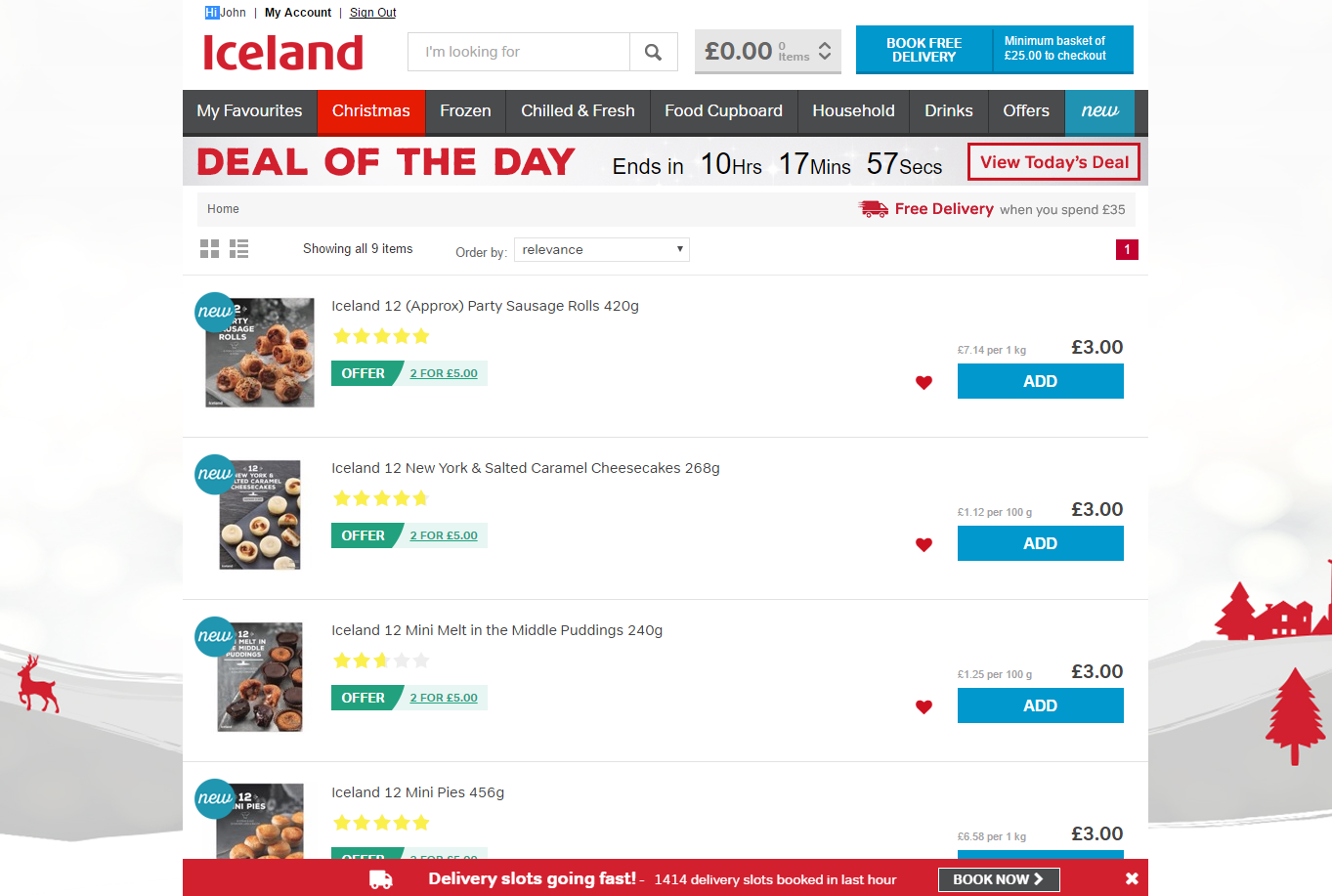 Iceland, party food, Boxing Day, #poweroffrozen, frozen food