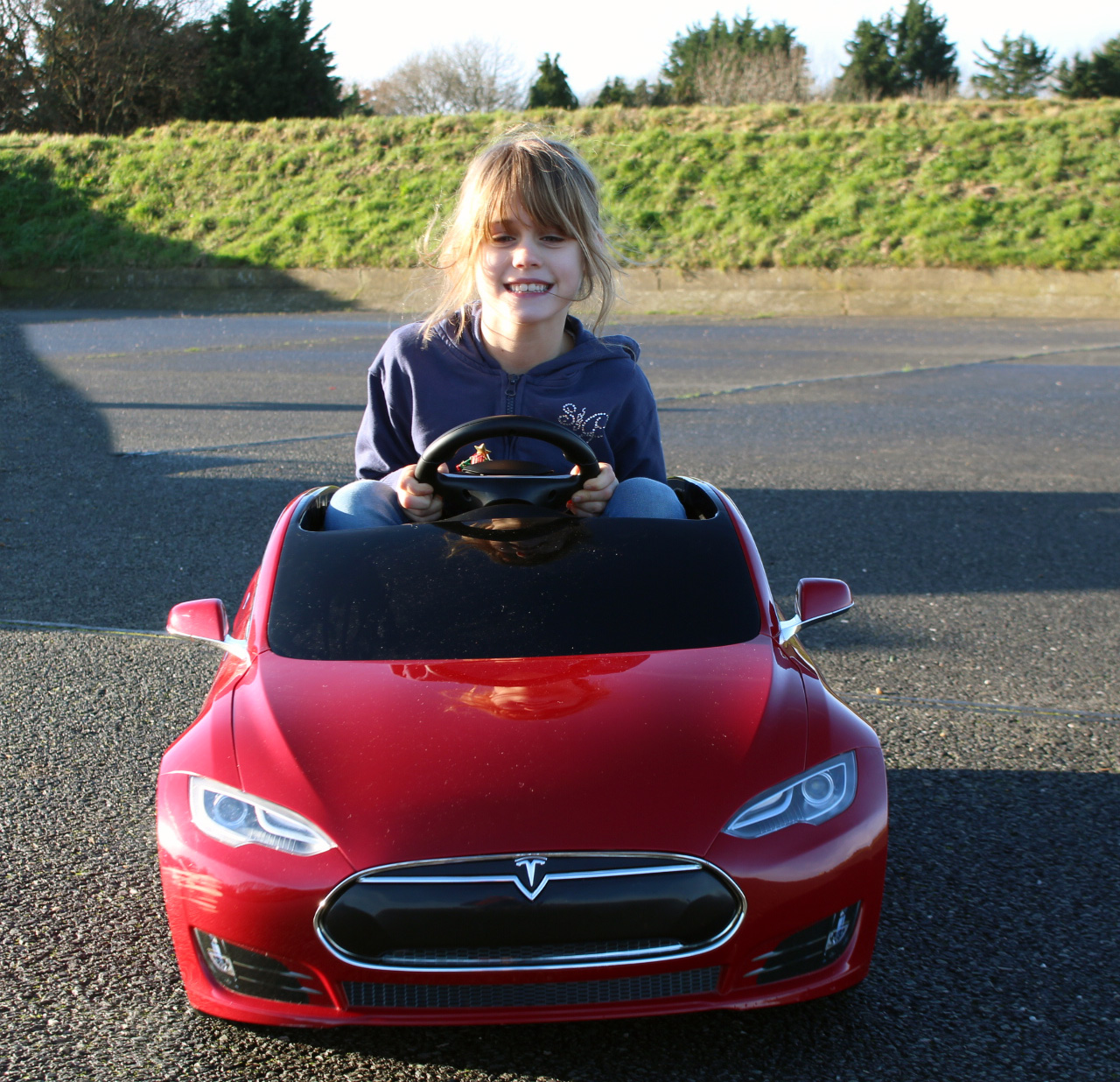 Toy Cars For 8 Year Olds : When my eight year old drove a tesla model s dad uk