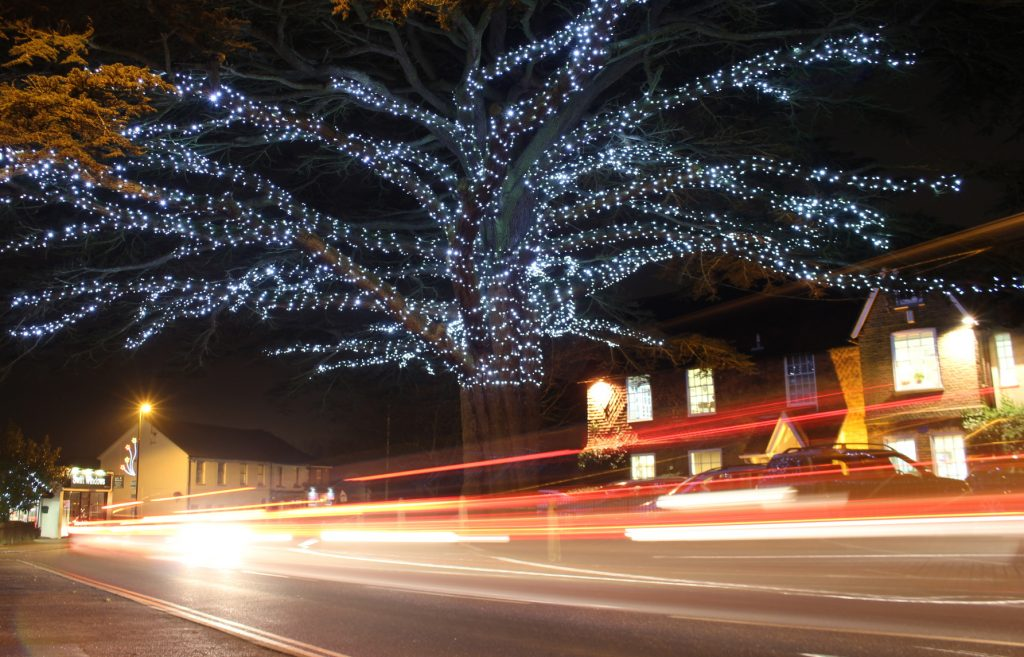 Christmas, decorations, traffic, cars, Christmas decorations, expsoure times, shutter speed, photography,