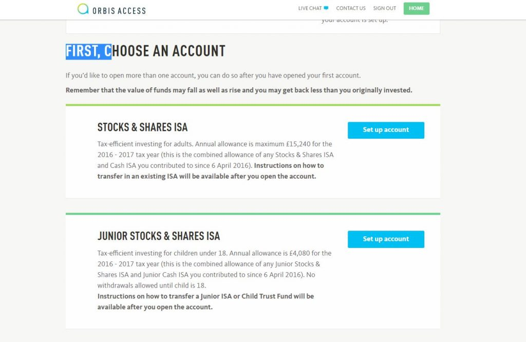 Junior Individual Savings Account, JISA, Orbis Acccess, dadbloguk, dadbloguk.com